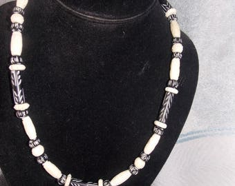 Handmade Bone Bead Necklace