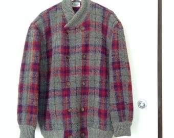Missoni vintage tartan wool jacket // Missoni vintage sweater // Missoni cardigan // missoni chevron // Missoni zig zag sweater // tartan