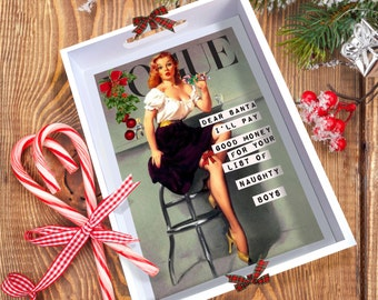 CHRISTMAS! Vogue Pin-Up 'Dolores' Tray