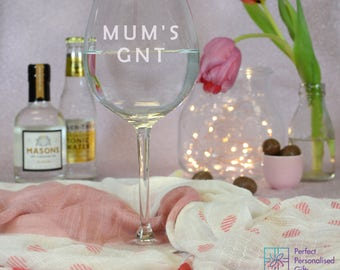 Gin Glass-Personalised Gin Goblet-gin and tonic glass- Personalised gin Glass
