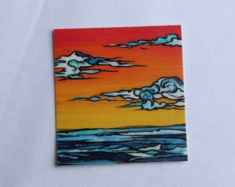 Ocean Sunset Vinyl Sticker