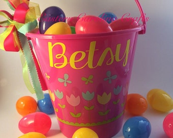 Personalized Easter Basket-Easter Pail-Easter Bucket