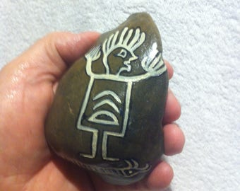 Petroglyph: Praying Shaman with the horned Snake based upon Anasazi Motives