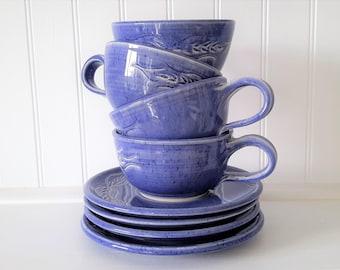 handmade pottery tea cup and saucer, ceramic cup with saucer, ceramics and pottery, coffee cup, pottery cup, pottery gift, tea lovers gift