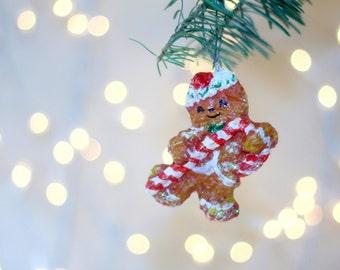 Gingerbread Man Ornament, Unique Christmas Ornament, hostess gift, housewarming gift, gift for children