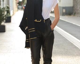 High waist pants VINTAGE 90s leather-