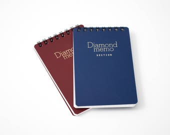 "Midori Diamond Memo spiral note pad, lined or graph, 4.5"" x 3"""