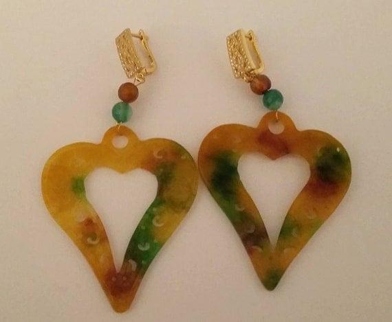Rainbow jade earrings