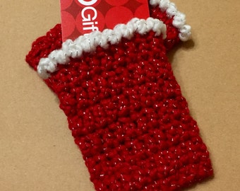Gift Card Holders, Crocheted Gift Card Holders, Set of 2, Christmas Gift Card Holder, Gift Card Cozy