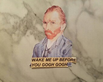 Van Gogh Aesthetic Sticker