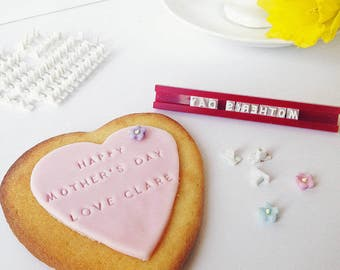 Personalised Mother's Day cookie kit| Stamp your own cookie kit | Personalised biscuit kit | Gift for bakers| Baking gift | UK