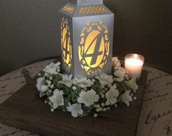 Table Numbers / Paper Lantern / Wedding Centerpiece / Wedding Table Number / Luminaries / Table Decor / Party Decoration / Sweet 16