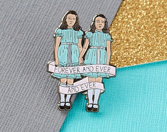 The Shining Twins Enamel Pin  // pingame, cult movies, lapel pins, halloween, forever and ever
