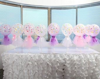 Tulle Balloon 12 inches in 6 Pack for Wedding Baby shower Birthday Party Christmas Party Carnival Party Decoration