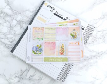 MATTE EC-V Pastel Succulents Planner Sticker Kit (3 Sheets) - For Erin Condren Vertical Life Planners