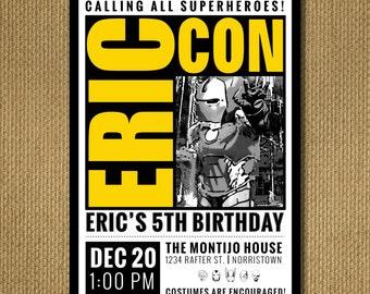 PRINTABLE | Comic Con Birthday Invitation