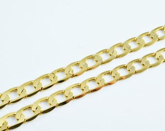 "Gold Filled Cuban Chain 18KT Gold Filled Size 17"" Long 5mm Width 1mm Thickness Item #CG23"