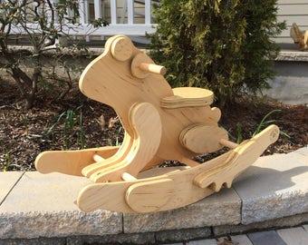Wooden Rocking Frog // la Rana // Handmade Artisan Rocking Frog