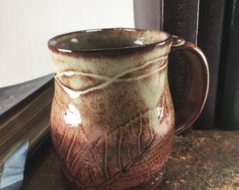 Ceramic Mug. Large Coffee Mug. Pottery Mug. Clay Mug. Handmade Mug. Coffee Lovers. Stoneware Cup. Rustic Mug. Organic Cup. Thumb Rest Mug.