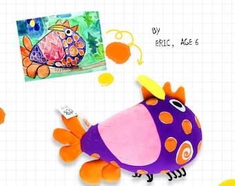 Custom plush toys of kids' drawings