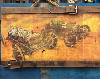 Millers Marvels by David Lozeau Official Day of the Dead Wood Art vintage racing cars