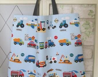 XL kids bag of boys vehicles