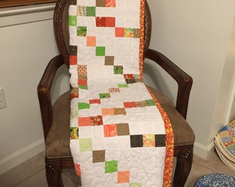 Vintage lap size quilt top newly quilted