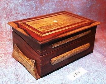 Wooden Hawaiian Milo & Mango display box