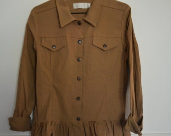 Vintage jacket Frill Ruffle Made in Australia Pingpong snap button Size 14