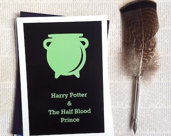Half Blood Prince minamilistic postcard print