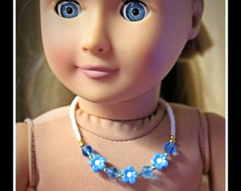 Necklace & bracelet set to fit American Girl (AG) or other 18 inch dolls