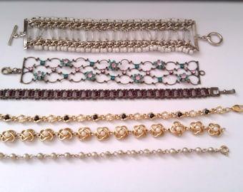 6 vintage bracelets