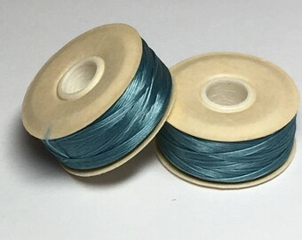 CLEARANCE-Nymo D spool, turquoise, 72 yards
