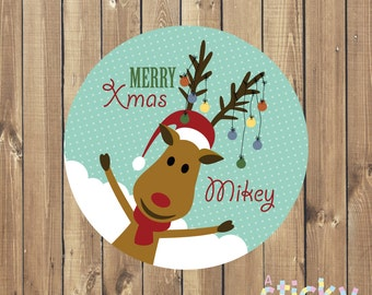 Personalized Christmas Stickers, Christmas Stickers, Christmas Labels, Christmas Tags, Xmas Stickers, Xmas Labels, Christmas Gift Stickers