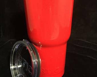 Bright Red Powder Coated Tumblers