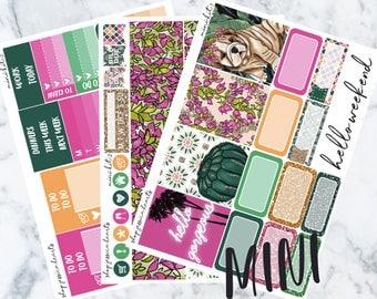 Palm Desert MINI Sticker Kit / Fits Erin Condren Vertical Life Planner