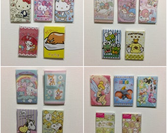 Sanrio/Disney Mini Envelopes