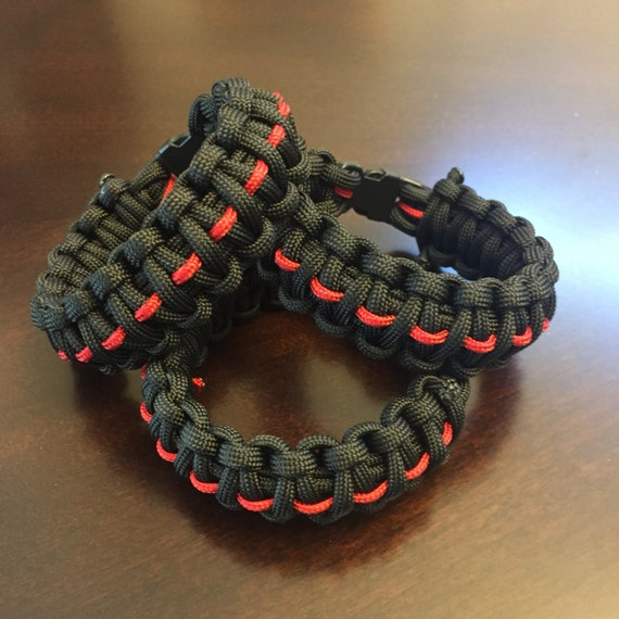 how to make firefighter paracord bracelet