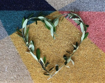 Olive branch heart wreath