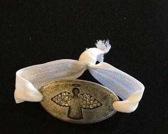 Angel Burnished Silver Bracelet