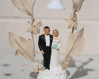 Vintage Wedding Cake Topper Chalkware Coast Novelty 1940's