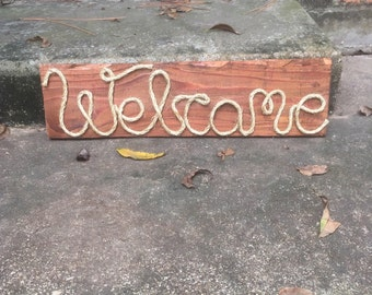 wood sign, wooden sign, rope sign, sign, wall decor, home decor, rustic home decor, rustic decor, decor.