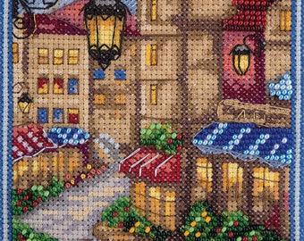 Counted Cross Stitch Kit Parisian Street