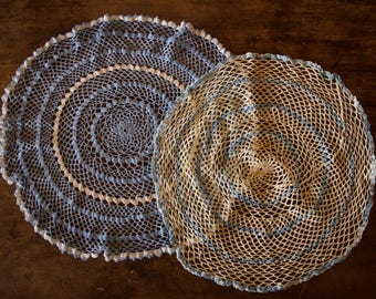 Blue & White Doilies (2 pack)
