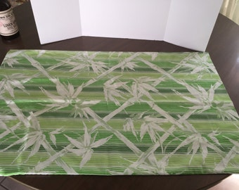 Vintage standard pillowcase in bamboo print, free shipping!