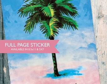 Loteria La Palma Mexican Retro Illustration Art Sticker