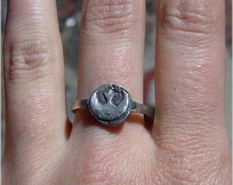 Star Wars Rebel Earrings and Ring set Sterling Silver 925