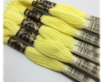 10 skeins of yellow Mercerized cotton threads