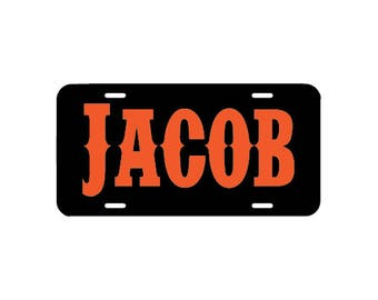 Personalized license plate, name sign, room door name plaque, front car license plate, monogram, name car tag, teen car accessory gift