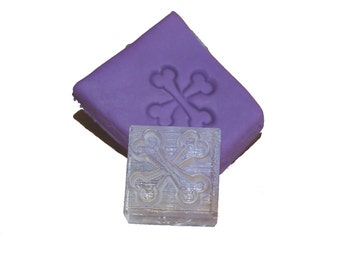 SOAP stamp of bones - SOAP stamp - acrylic stamps - clear acrylic stamp